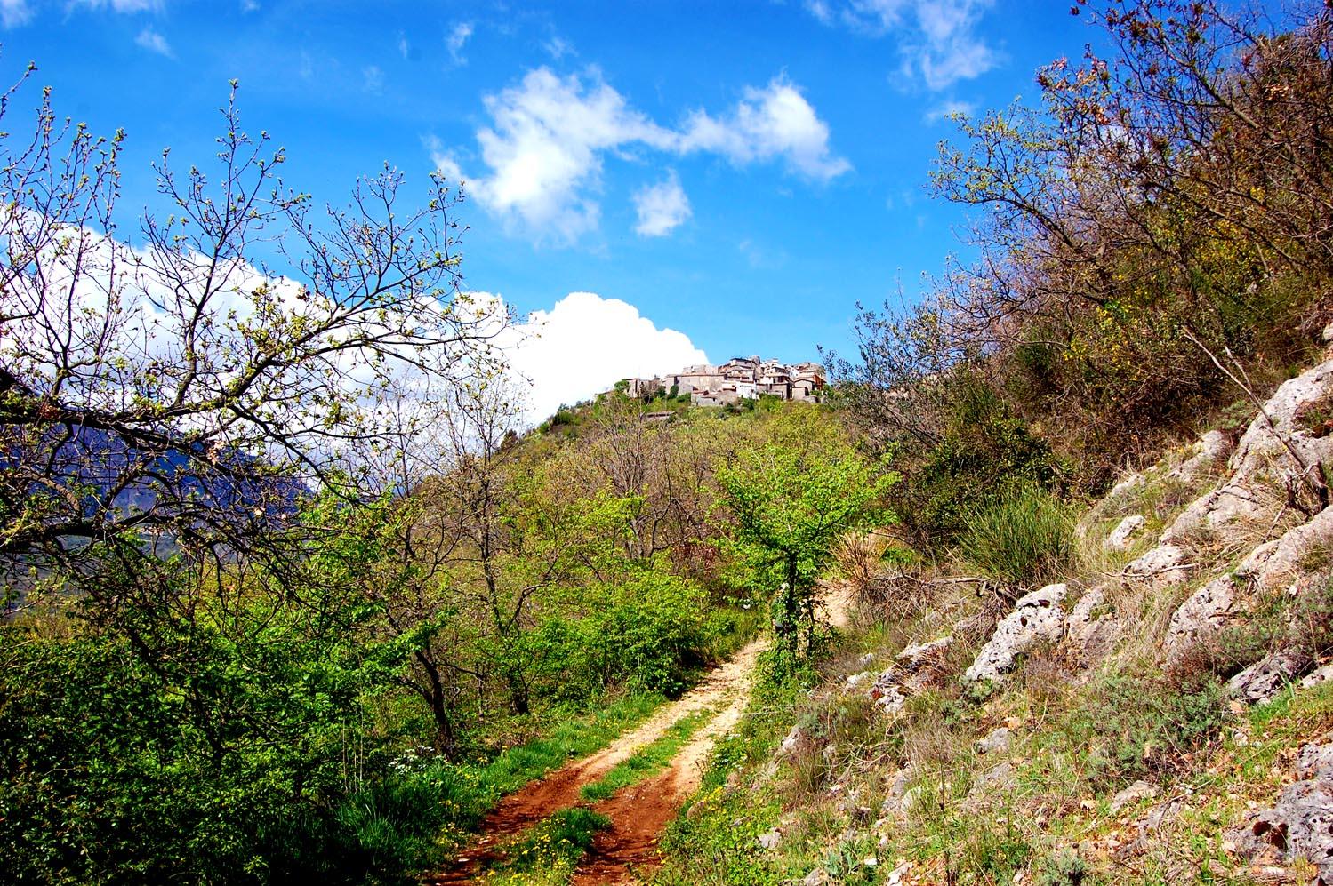 il sentiero per Morrea