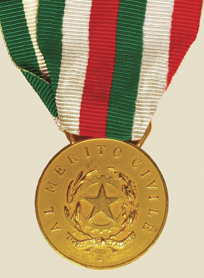 medaglia oro al valore civile